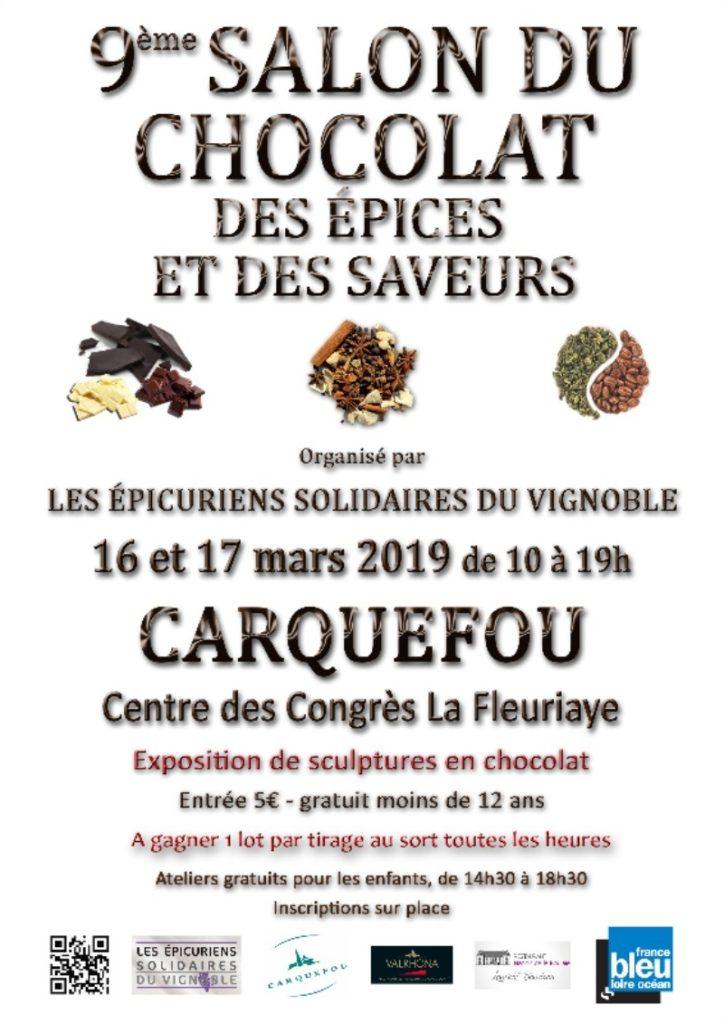 Affiche du 9e Salon du Chocolat 2019 à Carquefou