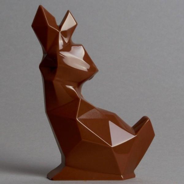 Moulage Lapin Origami de Pâques en Chocolat au Lait de Stéphane Pasco