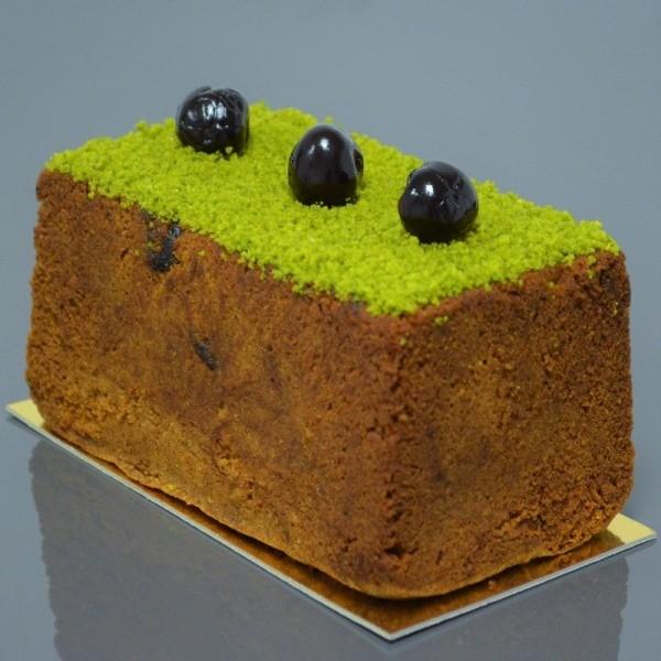 Cake fruité aux saveurs de Pistache et de Cerises Griottes Amarena de Stéphane Pasco