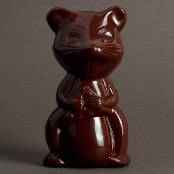 Moulage Souris de Pâques en Chocolat Noir de Stéphane Pasco