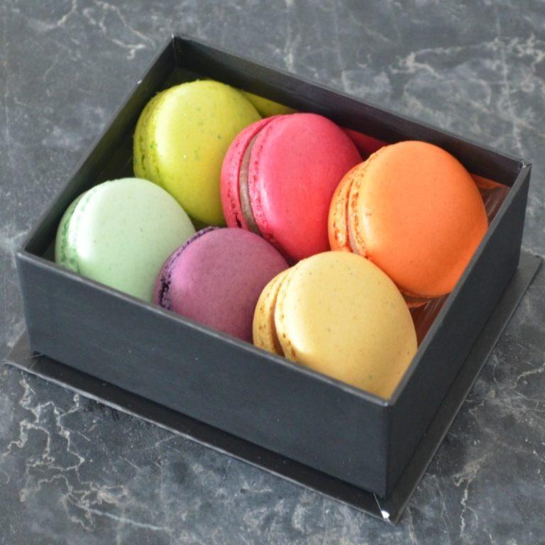 Coffret de 6 Macarons de Stéphane Pasco, Pâtissier Chocolatier Glacier à Nantes et Vertou