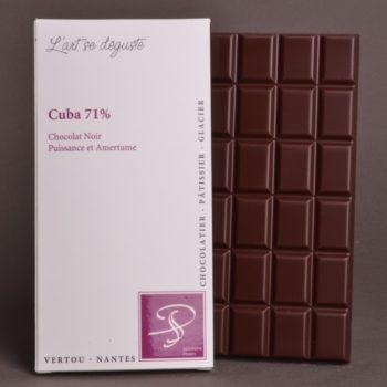Tablette Cuba 71% Chocolat Noir de Stéphane Pasco, Pure origine, aux notes de Puissance et d'Amertume