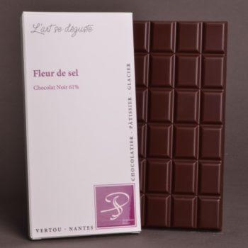 Tablette Fleur de Sel Chocolat Noir 61% de Stéphane Pasco