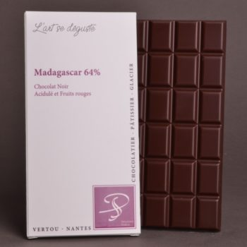 Tablette Madagascar 64% Chocolat Noir de Stéphane Pasco, Pure Origine, aux notes Acidulées et de Fruits rouges