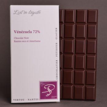 Tablette Vénézuela 72% Chocolat Noir de Stéphane Pasco, Pure origine, aux notes de Raisin sec et tout en Amertume