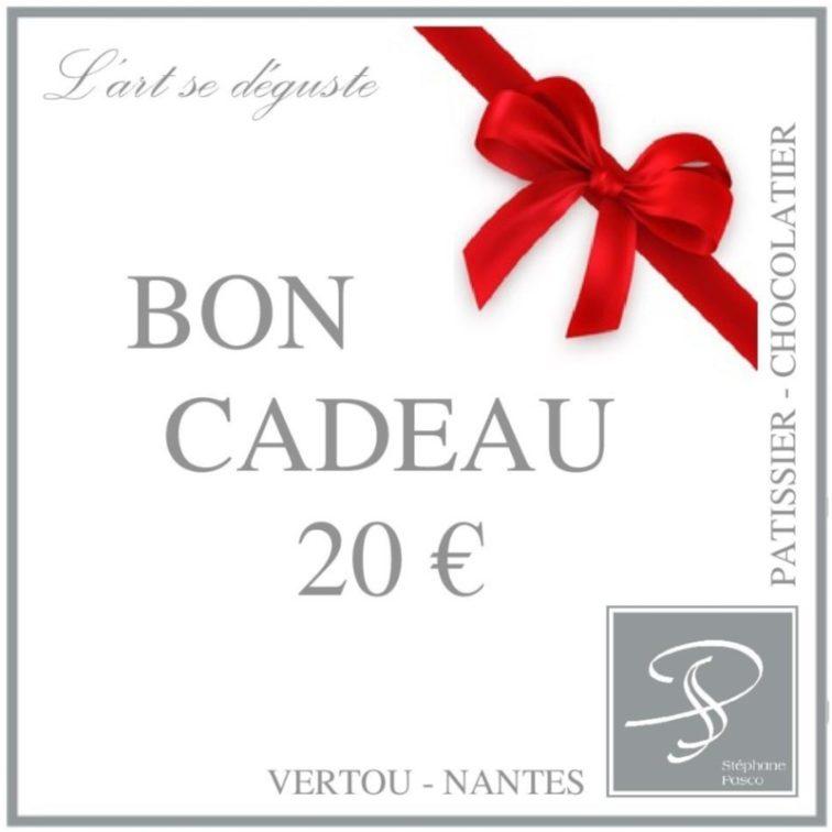 Bon Cadeau de 20€ de Stéphane Pasco, à offrir à vos proches