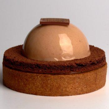 Tarte Panache de Stéphane Pasco, aux saveurs de Noisette et de Caramel au Beurre Salé
