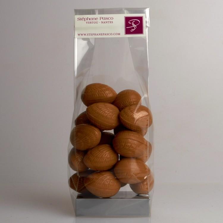 Sachet d'Oeufs Praliné de 150 g en Chocolat Noir, Lait et Blond de Stéphane Pasco