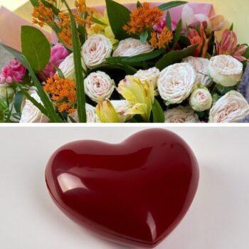 Bouquet de Fleur et Chocolat de l'Atelier de Brice et de Stéphane Pasco, cadeau pour le Fête des Mères