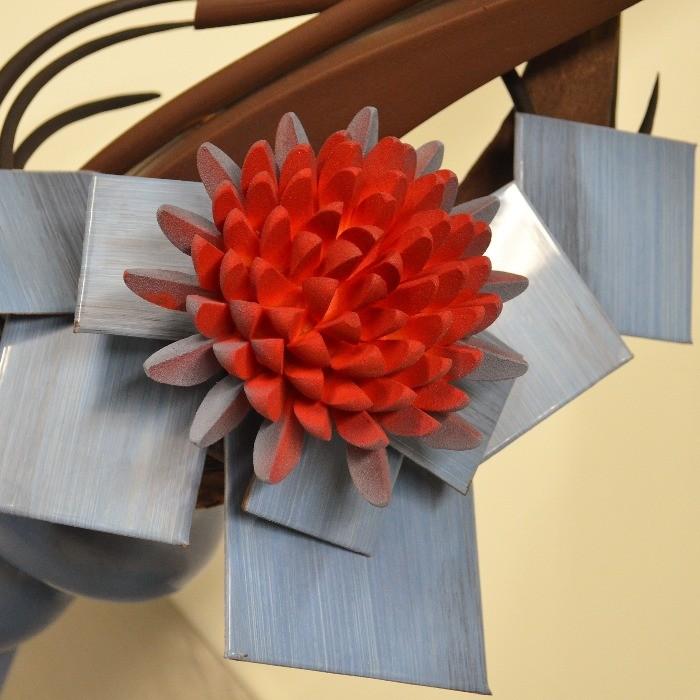 Pièce artistique en Chocolat, détail de Fleur de Stéphane Pasco, artisan Chocolatier