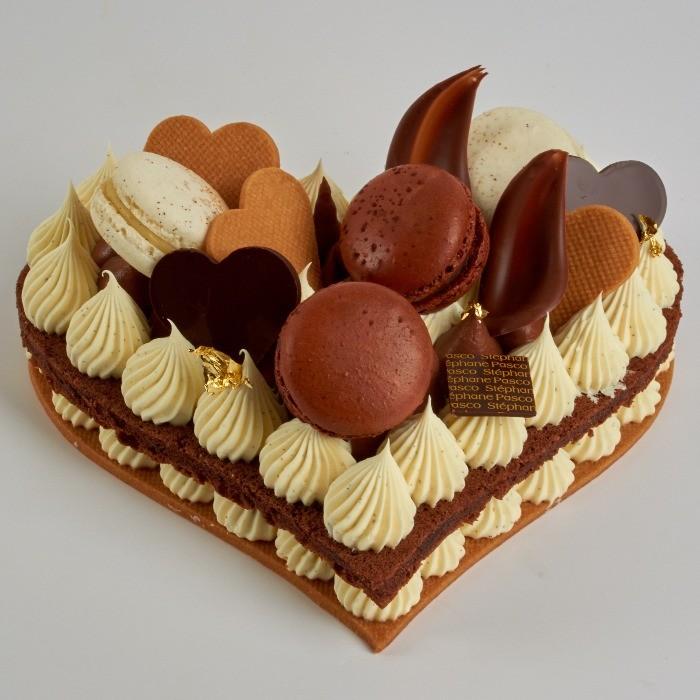 Number Cake en forme de Coeur de Stéphane Pasco, vue de coté