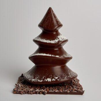 Moulage Sapin de Noël en Chocolat de Stéphane Pasco