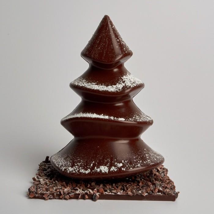 [Sapin de Noël, au Chocolat Noir et Grué]
