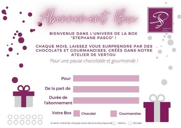 Carte Abonnement Box de Stéphane Pasco