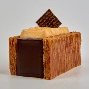 Mille-Feuilles Caramel Chocolat Tonka de Stéphane Pasco, un délice du weekend