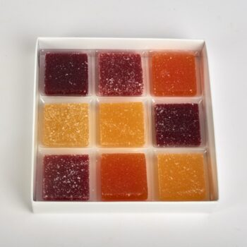 Pâtes de Fruits en étui de 9, de Stéphane Pasco, Artisan Pâtissier à Nantes et Vertou
