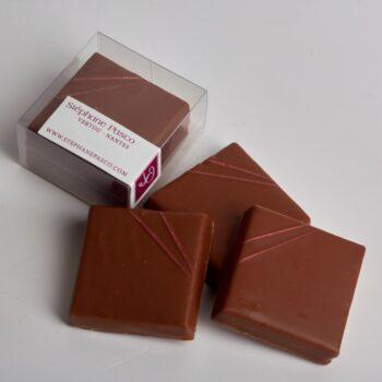 Bouchées Praliné Craquant Fleur de Sel enrobées de Chocolat Lait, de Stéphane Pasco