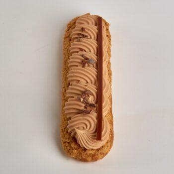 Éclair Pécan Chocolat Lait de Stéphane Pasco, aux saveurs plein de richesse