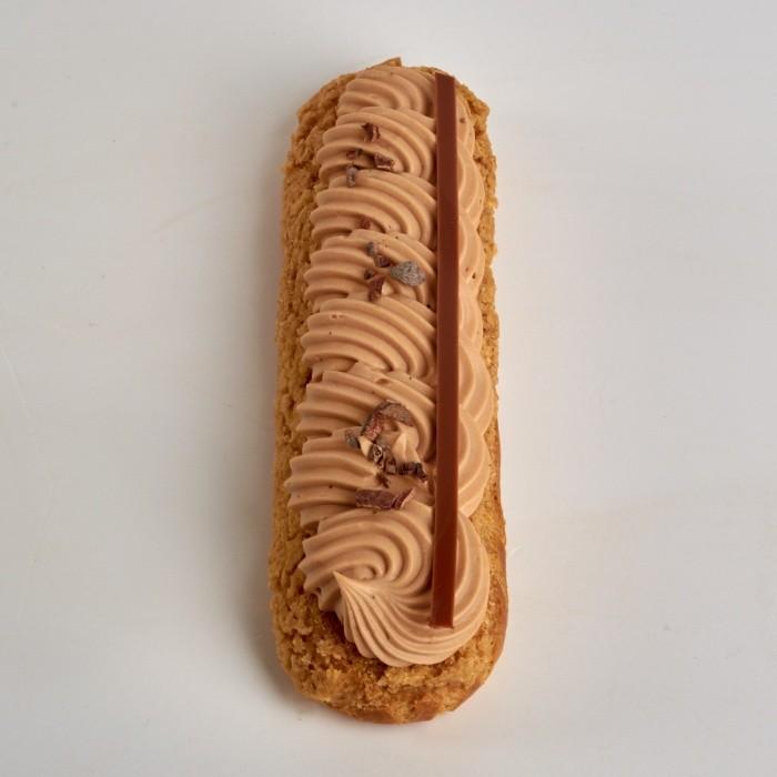 [Éclair Pécan Chocolat Lait de Stéphane Pasco, plein de richesse]