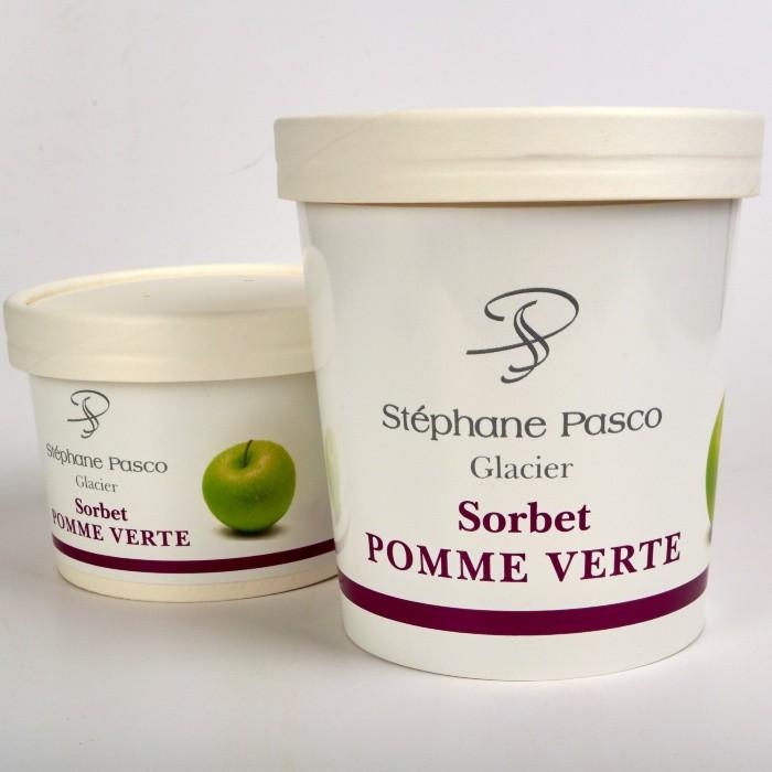 Sorbet Pomme Verte de Stéphane Pasco, Artisan Glacier à Nantes